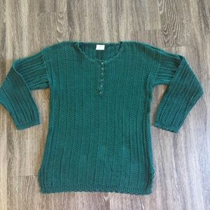 Vintage partners green knit sweater